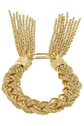 Aurelie Bidermann 18K Yellow Gold Plated Rope Bracelet