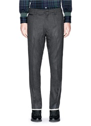 Nanamica Cuff Trim Wool Stretch Twill Pants Grey