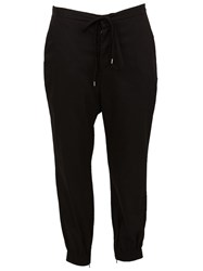 The Viridi Anne The Viridi Anne Drawstring Cropped Trousers Black