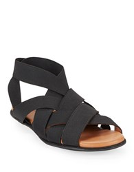 Gentle Souls Bari Elastic Strap Sandals Black