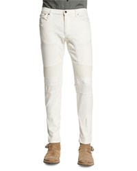 Belstaff Eastham Slim Fit Moto Jeans Natural White Women's