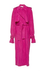 Wanda Nylon Jane Suede Effect Trench Pink