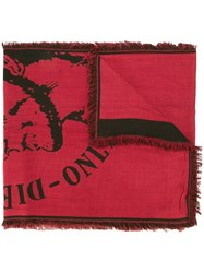 Diesel 'Indian' Scarf Red