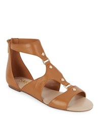 Karl Lagerfeld Bouloi Leather Sandals Brown
