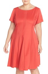 Plus Size Women's Gabby Skye Eyelet A Line Dress