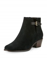 Cole Haan Willette Suede Buckle Bootie Black