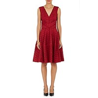 J. Mendel Women's Lace Full Skirt Cocktail Dress Red