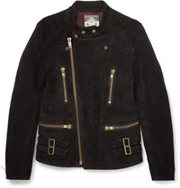 Blackmeans Suede Biker Jacket Black