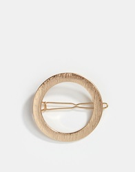 Warehouse Textured Circle Hair Clip Gold