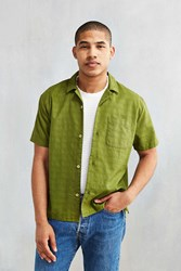 Cpo Textured Short Sleeve Camp Shirt Olive