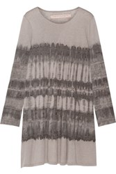 Raquel Allegra Tie Dyed Cotton Blend Jersey Mini Dress Gray