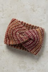 Anthropologie Marled Knit Earband Red