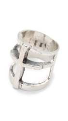 Pamela Love Cross Ring Silver