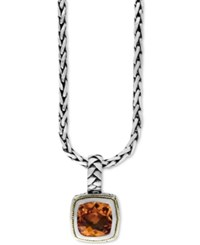Effy Collection Balissima By Effy Citrine 4 Ct. T.W. Pendant Necklace In 18K Gold And Sterling Silver
