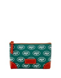 Dooney And Bourke Ny Jets Cosmetic Case Green Jets