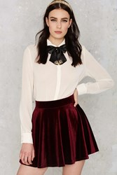 Nasty Gal Serial Skater Velvet Skirt