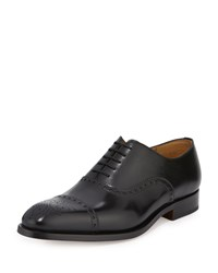 Magnanni For Neiman Marcus Cap Toe Leather Oxford Black