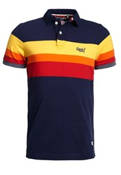 Superdry Triband Chest Stripe Polo Shirt Eclipse
