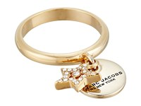 Marc Jacobs Mj Coin Charm Ring Crystal Gold