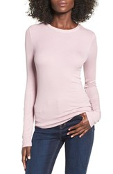 Women's Bp. Ribbed Long Sleeve Tee Purple Shade