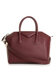 Givenchy Antigona Medium Grained Leather Tote Burgundy