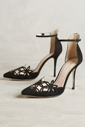 Anthropologie Romea Ankle Strap Pumps Black