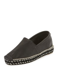 Rag And Bone Rag And Bone Noa Handmade Leather Espadrille Flat Black Size 37.0B 7.0B