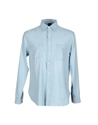 People Denim Shirts Blue