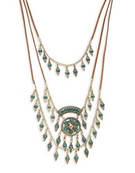 Design Lab Lord And Taylor Nested Tribal Necklace Turquoise