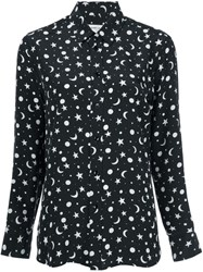 Saint Laurent Star And Moon Print Shirt Black