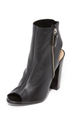 Schutz Zenna Open Toe Booties Black