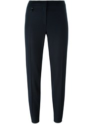 Fay Pleated Tapered Trousers Blue
