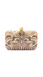 Santi Embroidered Clutch Gold