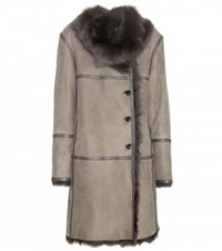 Closed Fur Trimmed Suede Coat Brown
