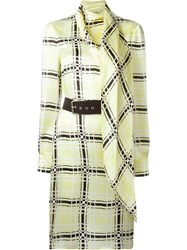 Emanuel Ungaro Belted Dress Yellow And Orange