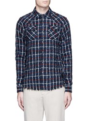Scotch And Soda Loose Loop Hopsack Shirt Multi Colour