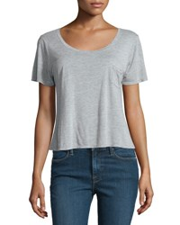 Frame Denim Le Boxy Short Sleeve Tee Gris
