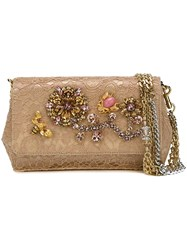 Dolce And Gabbana 'Anna' Clutch Nude And Neutrals