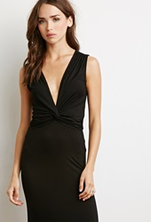 Forever 21 Twist Front Maxi Dress Black