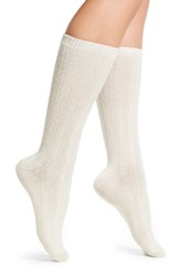Uggr Women's Ugg Stretch Cashmere And Wool Socks Cream