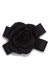Cara Rose And Black Bow Pin