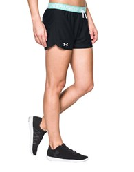 Under Armour Play Up Athletic Shorts Black Aqua