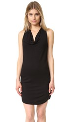 Lanston Drape Racer Back Dress Black