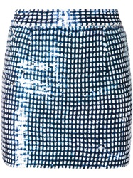 Ashish Gingham Sequins Mini Skirt