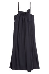 3.1 Phillip Lim Passementerie Strap Silk Dress Blue