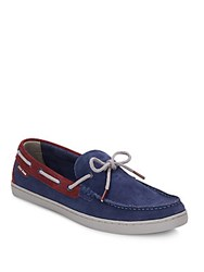 Cole Haan Lincoln Suede Boat Shoes Blue