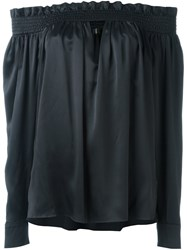 Alexandre Vauthier Off The Shoulder Blouse Black