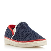 Dune Falmouth Mesh Detail Espadrille Shoes Navy