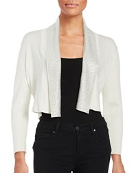 Calvin Klein Beaded Cropped Cardigan Winter White
