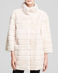 Maximilian Mink Coat With Suede Inserts Bloomingdale's Exclusive Blush